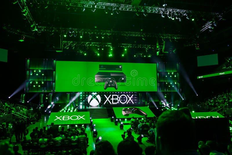 Pressez la collecte à l'information de media de Xbox images stock
