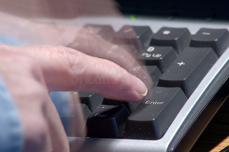 Download Pressing Enter with Blur stock image. Image of connectivity - 1292927