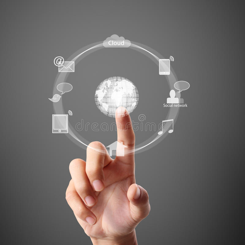 Download Pressing Modern Social Buttons Stock Image - Image: 32755899