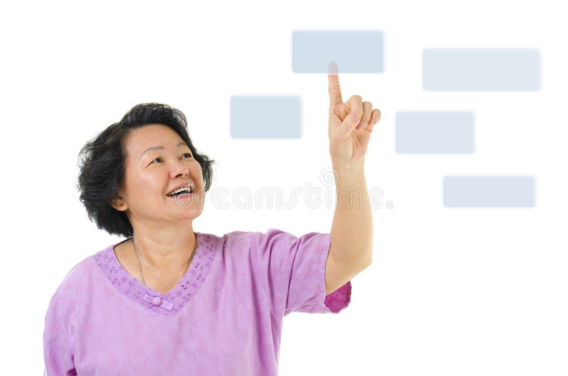 Download Pressing On Virtual Screen Button Stock Photo - Image: 25983634