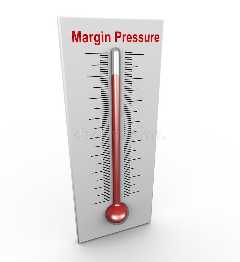 pression de marge du mot à la mode 3d illustration de vecteur