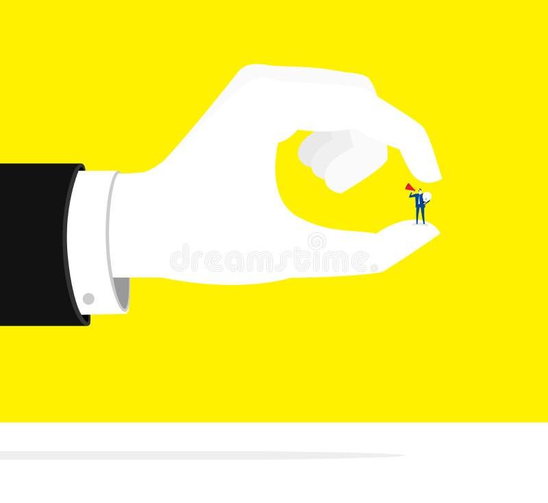 Pression invisible illustration stock