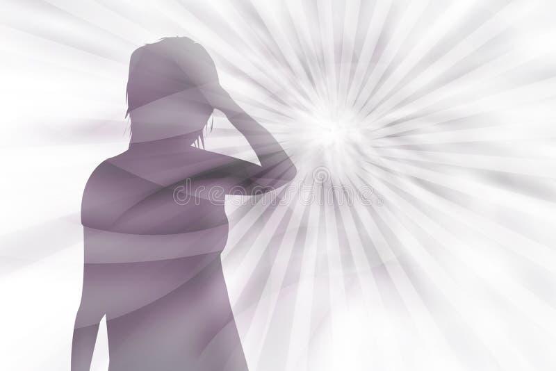 Pression psychique illustration de vecteur