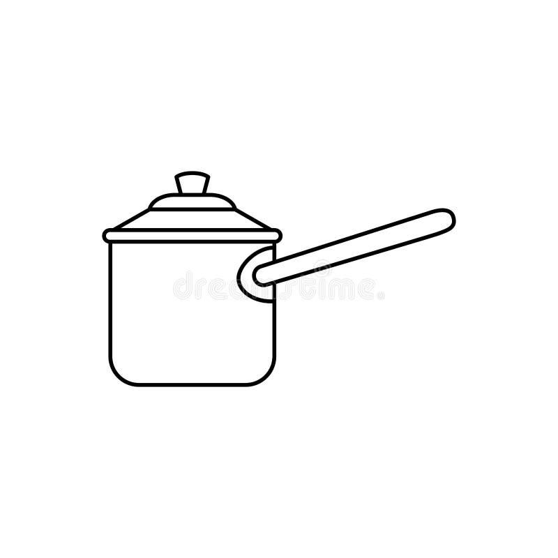 Pressione del fornello della cucina illustrazione vettoriale