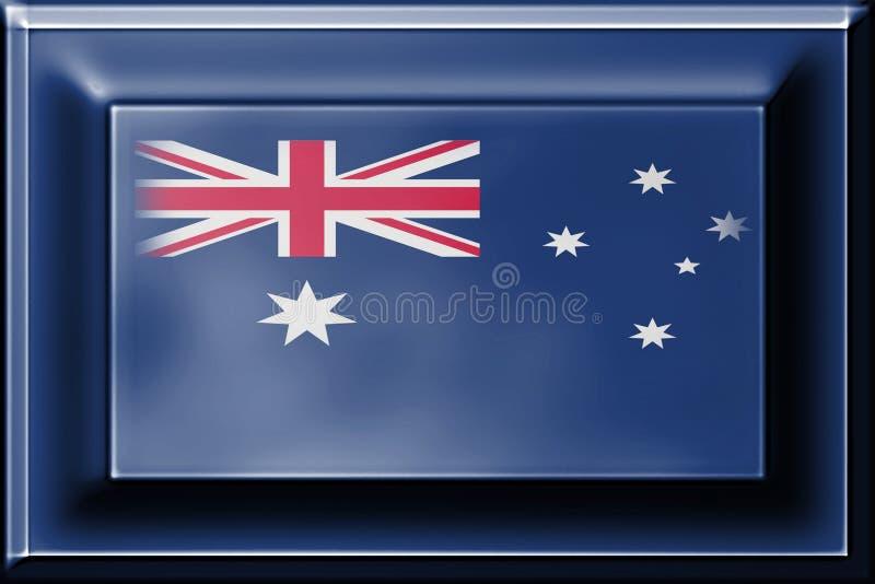 Pressione o botão com mistura da bandeira de Austrália imagens de stock