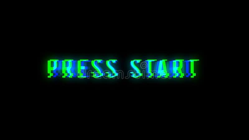 Pressione o texto do começo com sinal mau ilustração do vetor