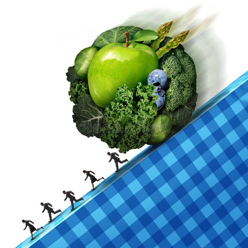 Pressione sana di cibo illustrazione di stock