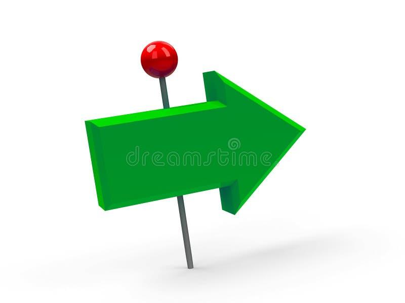 A pressione verde della freccia illustrazione di stock