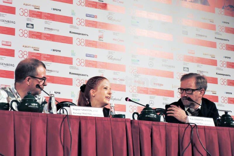 Presskonferens av (trettiosju) film 37 royaltyfria foton