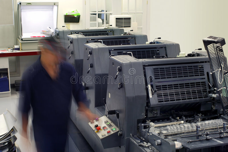 Pressroom Printhouse 库存照片