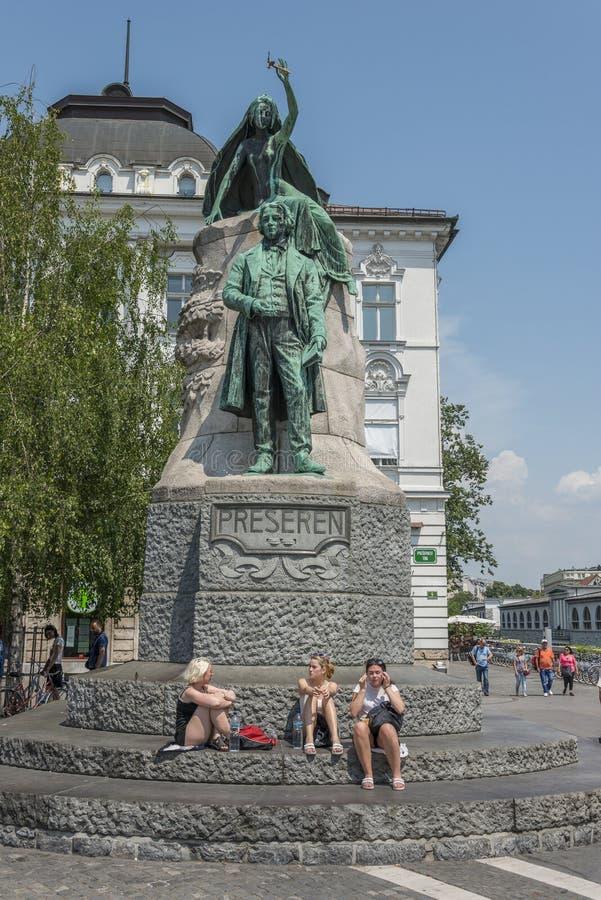 Pressrunvierkant, Ljubljana, Slovenië royalty-vrije stock afbeeldingen