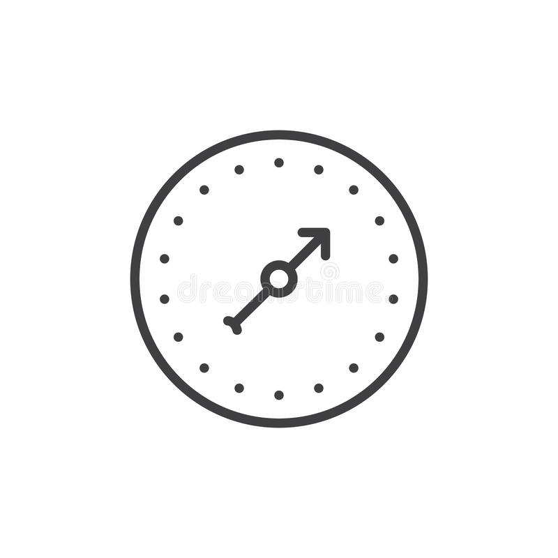 Pressure Gauge Line Icon Stock Vector Illustration Of Pipe 100433569