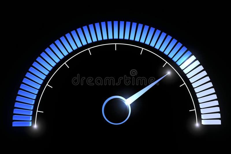Pressure gauges temperature speed performance. Pressure gauge on a black background royalty free illustration
