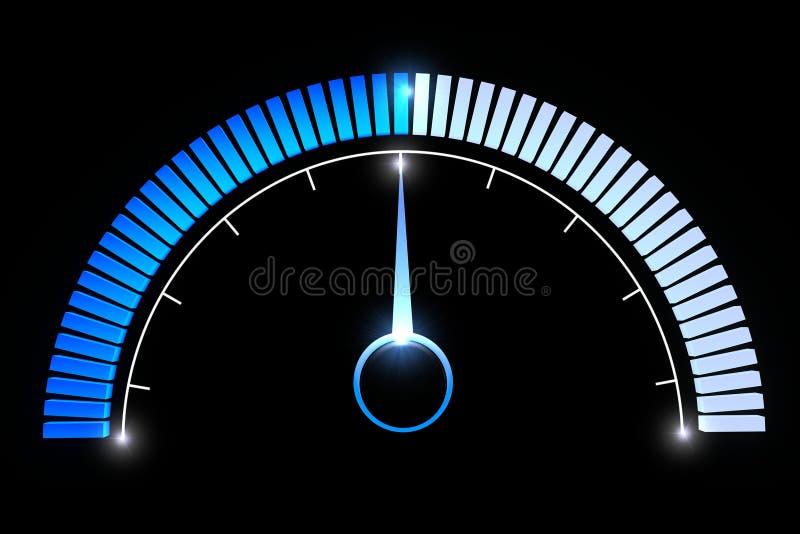 Pressure gauges temperature speed performance. Pressure gauge on a black background vector illustration