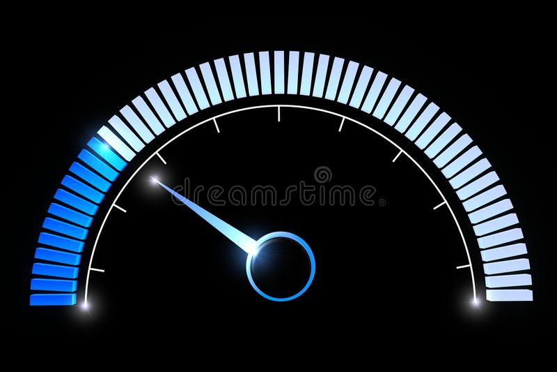 Pressure gauges temperature speed performance. Pressure gauge on a black background stock illustration