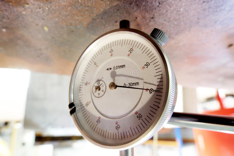 Pressure Guage for Concrete Testing stock image
