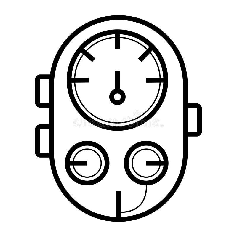 Pressure meter icon. Illustration vector illustration