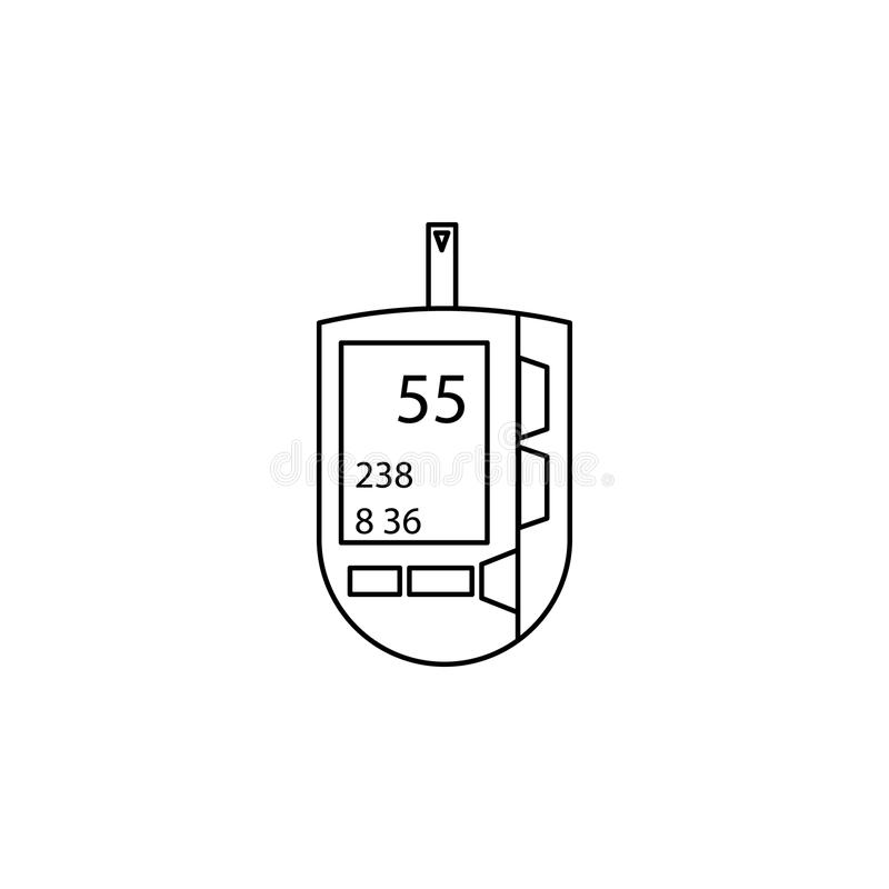 Pressure meter line icon. Element of Medecine tools Icon. Premium quality graphic design. Signs, symbols collection, simple icon f stock illustration