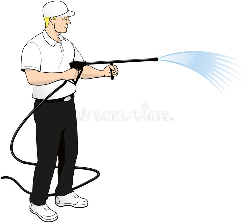 pressure power soft washing clip art stock illustration rh dreamstime com  pressure washing clipart free to use