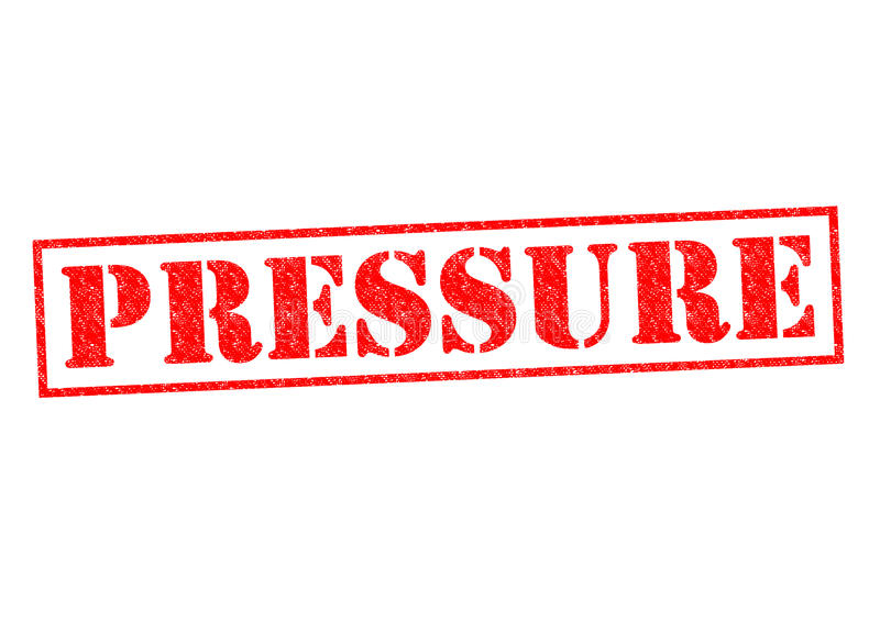 PRESSURE. Red Rubber Stamp over a white background royalty free illustration