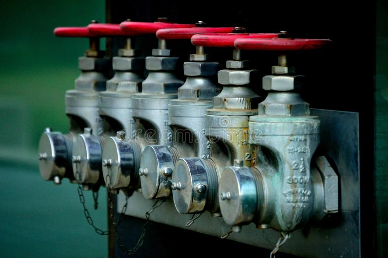 Pressure regulating valves stock photography