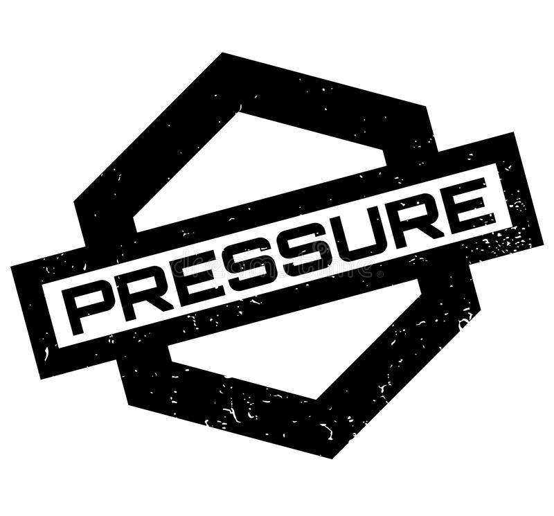 Pressure rubber stamp. Grunge design with dust scratches. Effects can be easily removed for a clean, crisp look. Color is easily changed royalty free illustration