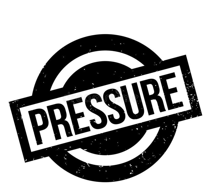 Pressure rubber stamp. Grunge design with dust scratches. Effects can be easily removed for a clean, crisp look. Color is easily changed stock illustration