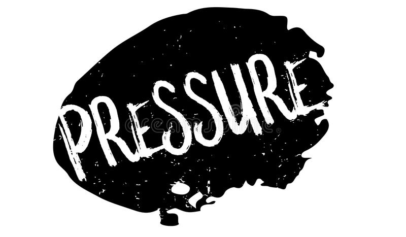 Pressure rubber stamp. Grunge design with dust scratches. Effects can be easily removed for a clean, crisp look. Color is easily changed vector illustration