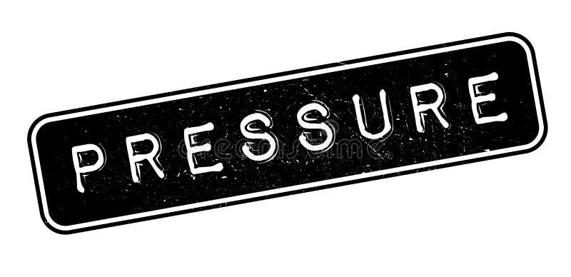 Pressure rubber stamp. On white. Print, impress overprint royalty free illustration