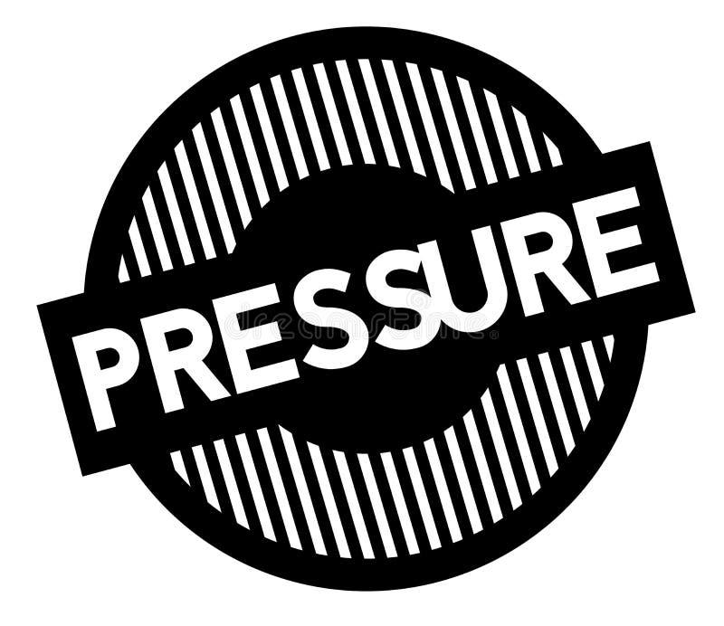 Pressure typographic stamp. Black circular stamp series stock illustration