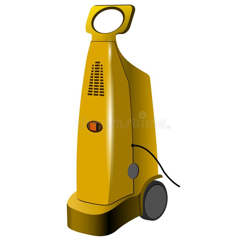 Pressure washer isolated over white background royalty free illustration