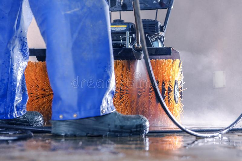 Pressure Washing Work stock image