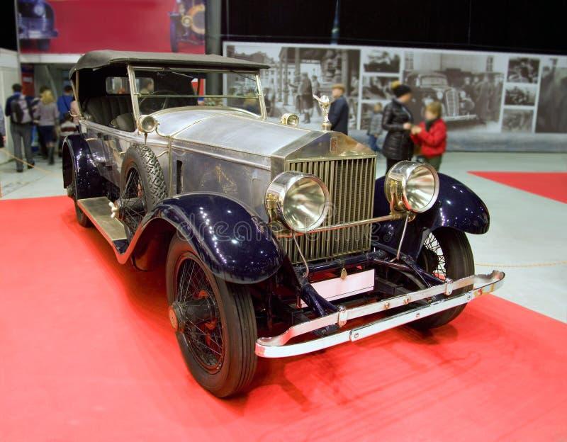 Prestígio retro do cabriolet de rolls royce do carro elegante fotos de stock royalty free