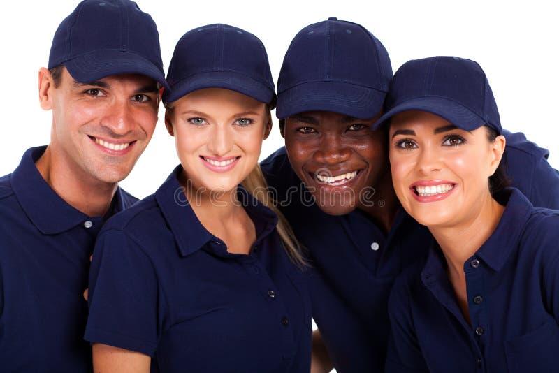 Presta serviços de manutenção à equipe fotografia de stock