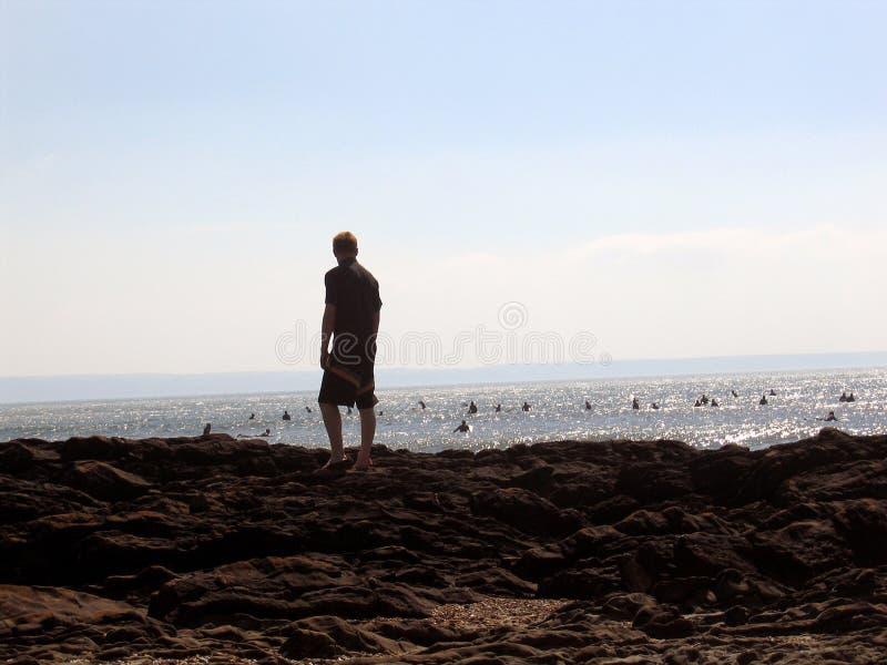 Prestando Atenção Aos Surfistas Foto de Stock Royalty Free