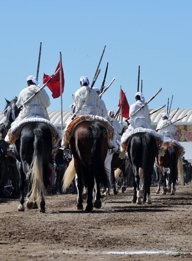 Prestaties van de traditionele Fantasie in Marokko royalty-vrije stock foto's