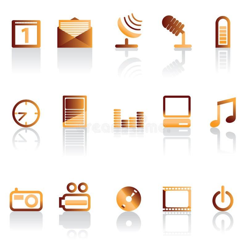 Prestazione dell'icona del telefono illustrazione di stock