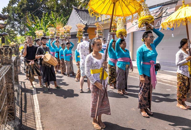 Prestazione della via di balinese immagine stock libera da diritti