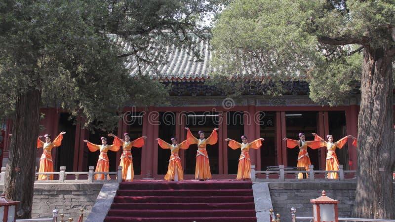 Prestazione di Rito-musica di Dacheng a Temple of Confucius a Pechino, Cina fotografia stock libera da diritti