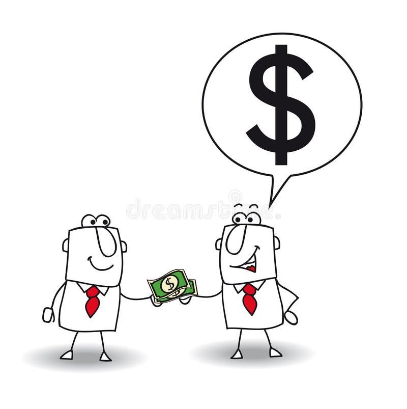 Preste el dinero libre illustration