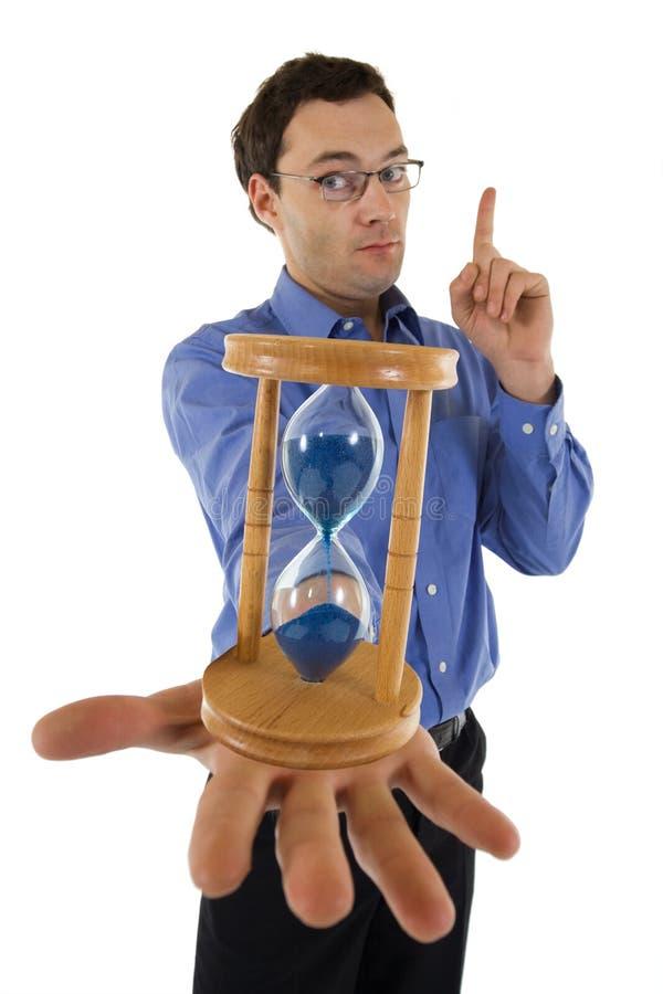 Preste-lhe atenção - o tempo está quase acima imagem de stock