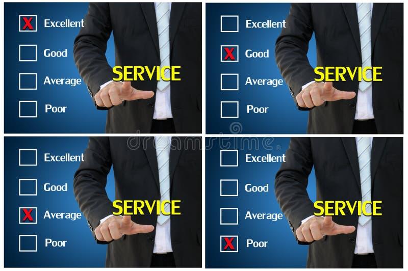 Preste serviços de manutenção à avaliação para a avaliação de desempenho e o conceito da análise foto de stock royalty free