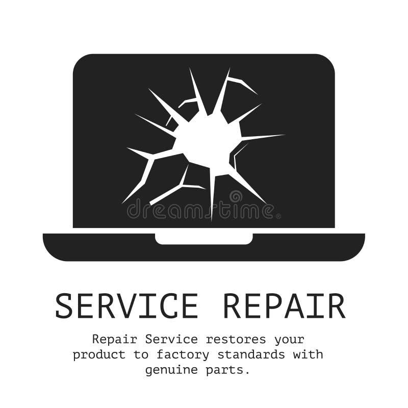 Preste serviços de manutenção à bandeira do reparo ilustração stock