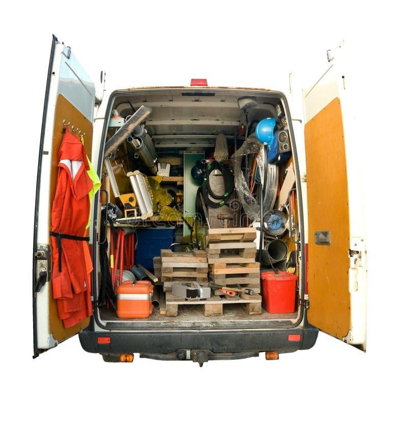 Preste serviços de manutenção à camionete fotografia de stock