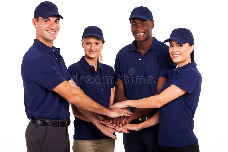 Preste serviços de manutenção à equipe imagens de stock royalty free