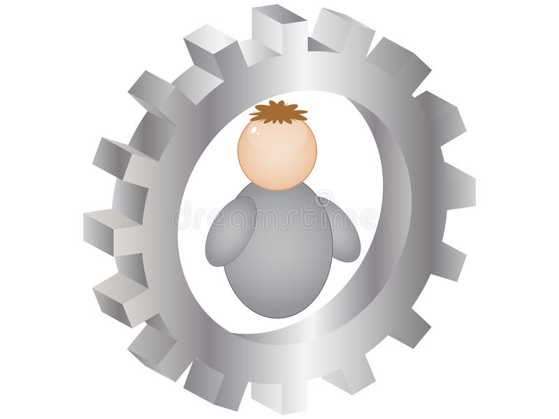 Preste serviços de manutenção à tecla ilustração royalty free