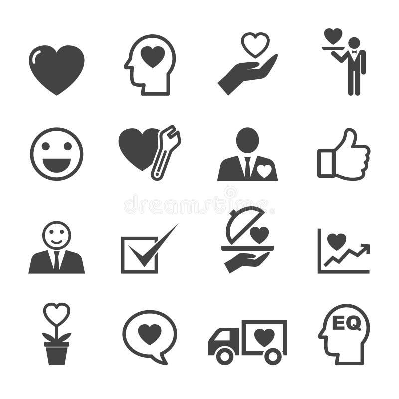Preste serviços de manutenção a ícones da mente ilustração stock
