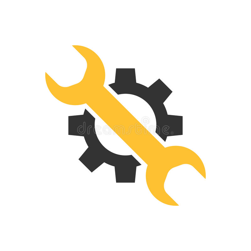 Preste serviços de manutenção ao ícone da ferramenta ilustração stock
