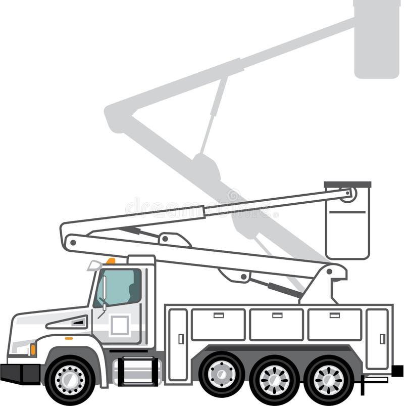 Preste serviços de manutenção ao arquivo do caminhão ilustração royalty free