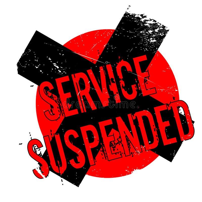 Preste serviços de manutenção ao carimbo de borracha suspendido ilustração royalty free